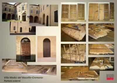 Porte finestre villa Medici del Vascello